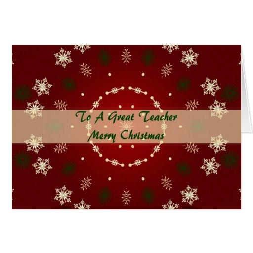 Cartão de Natal para um grande professor