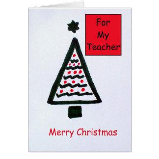 Cartão de Natal para um professor