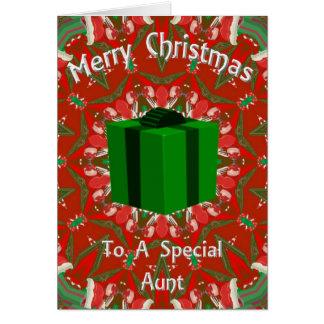Cartão de Natal para uma tia especial