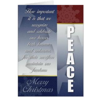 Cartão de Natal patriótico com flocos de neve