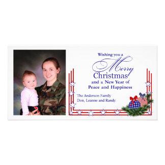 Cartão de Natal patriótico da foto