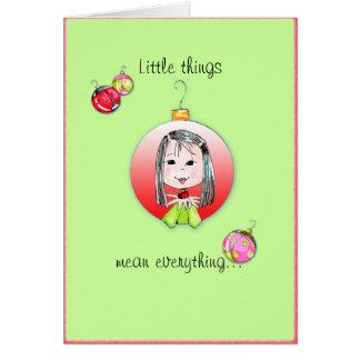 Cartão de Natal pequeno das coisas - ó opção