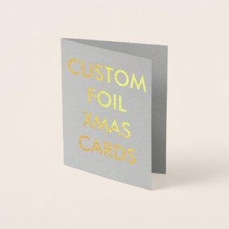 Cartão de Natal personalizado costume da folha de