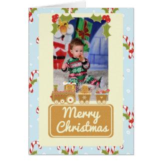 Cartão de Natal personalizado do trem do