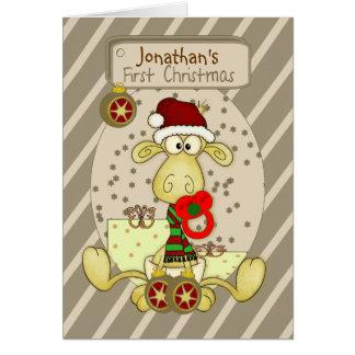 Cartão de Natal personalizado primeiro Natal