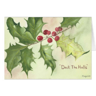 """Cartão de Natal """"plataforma das bagas do azevinho"""