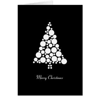 Cartão de Natal preto & branco minimalista do