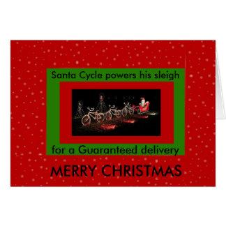 Cartão de Natal psto bicicleta do trenó