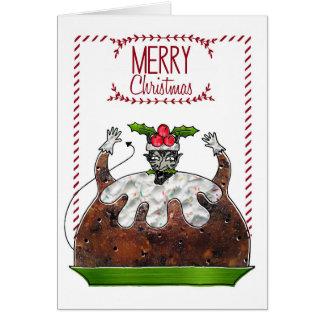 Cartão de Natal - pudim do diabo