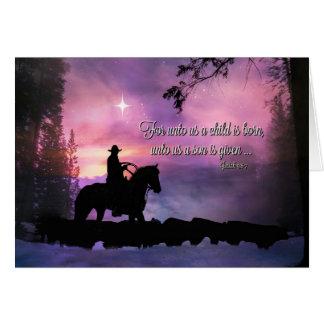 Cartão de Natal religioso das citações da bíblia