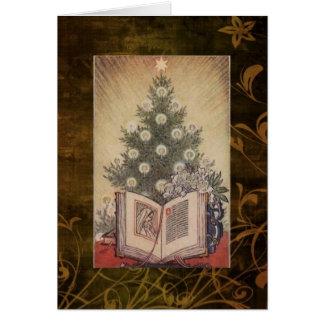 Cartão de Natal religioso do vintage