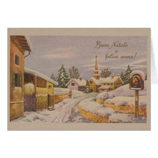 Cartão de Natal religioso italiano do vintage