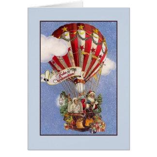 Cartão de Natal retro de Frohe Weihnachten do