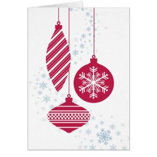 Cartão de Natal retro dos ornamento