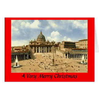 Cartão de Natal - Roma, vaticano
