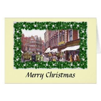 Cartão de Natal - rua de Grafton, Dublin
