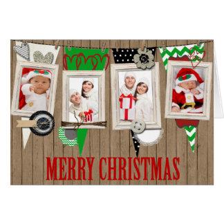 Cartão de Natal rústico da foto do país