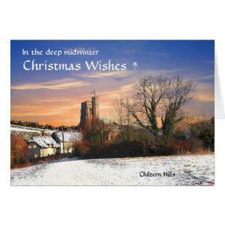 Cartão de Natal rústico de Chilterns