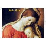 Cartão de Natal santamente da noite