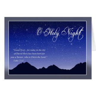 Cartão de Natal santamente da noite de O
