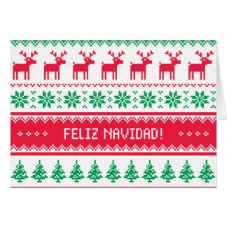 Cartão de Natal sem emenda no espanhol