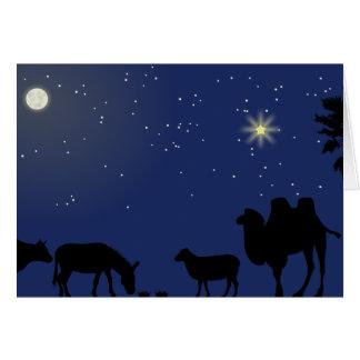 Cartão de Natal silencioso da noite