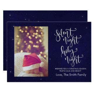Cartão de Natal silencioso da noite |