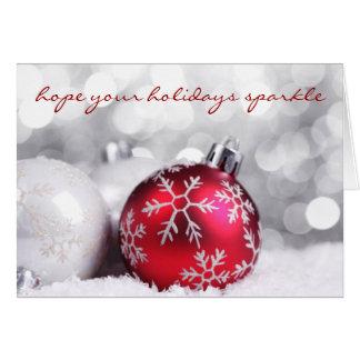 Cartão de Natal Sparkling