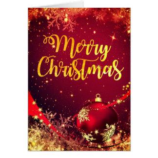 Cartão de Natal Sparkling bonito com desejos