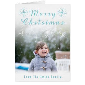 Cartão de Natal Sparkling do floco de neve