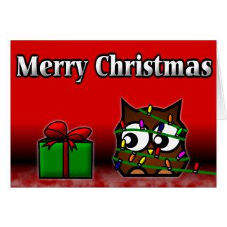 Cartão de Natal subtil da coruja