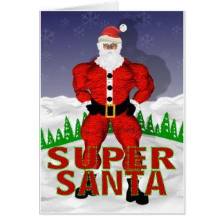 Cartão de Natal super de Papai Noel