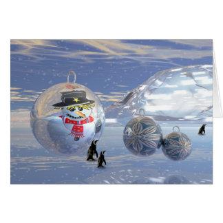 Cartão de Natal surrealista bonito