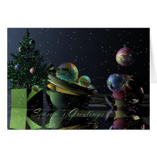 Cartão de Natal surrealista com cumprimentos da