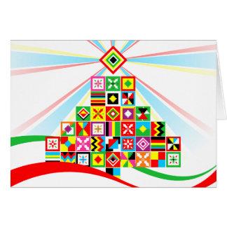 Cartão Cartão de Natal tribal da arte africana do teste