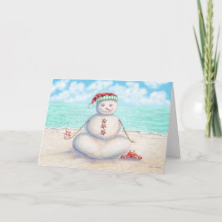 Cartão de Natal tropical da ioga