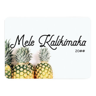 Cartão de Natal tropical de Mele Kalikimaka do
