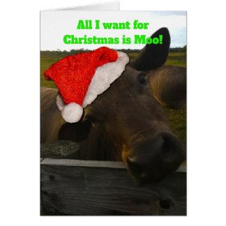 Cartão de Natal - tudo que eu quero para o Natal é