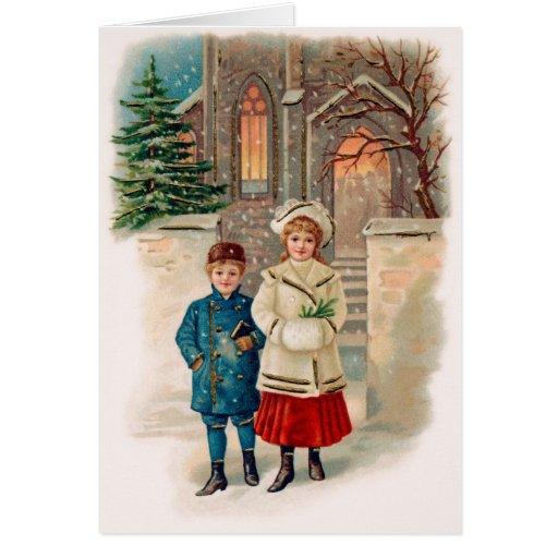Cartão de Natal velho da forma