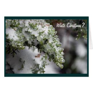Cartão de Natal verde gelado