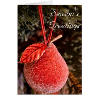 Cartão de Natal vermelho da pera