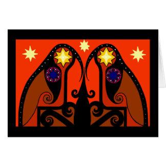 Cartão de Natal vermelho de Starbirds