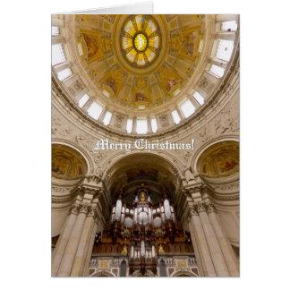Cartão de Natal vertical da catedral de Berlim