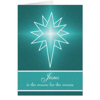 Cartão de Natal vertical da estrela do norte