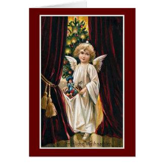 """Cartão De """"natal vintage Frohliche Weihnachten"""""""