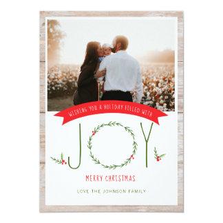 Cartão de Natal Woodsy da alegria das bagas da