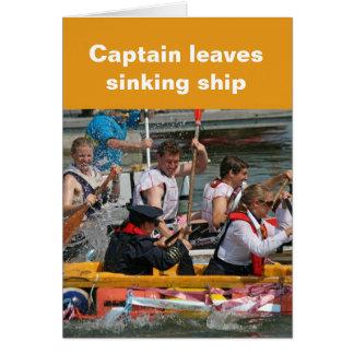 Cartão de naufrágio do navio