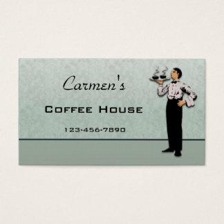 Cartão de negócio da restauração