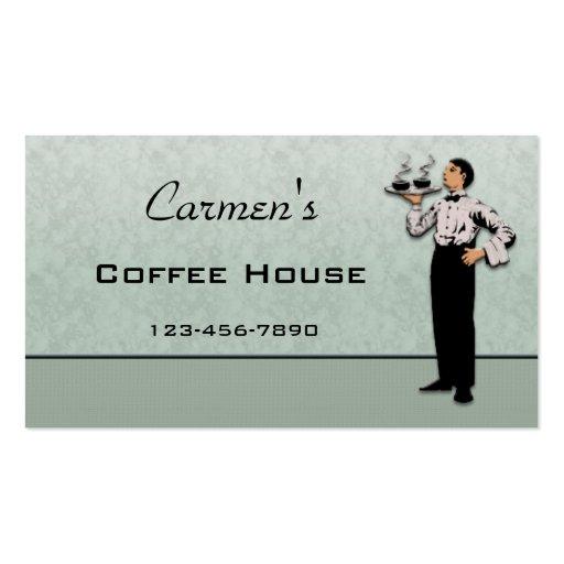 Cartão de negócio da restauração cartões de visita