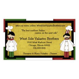 Cartão de negócio da restauração de dois cozinheir cartoes de visita
